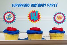Meagan Musing: Superhero Birthday Party