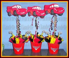 ideas de decoración fiesta cars rayo mcqueen -