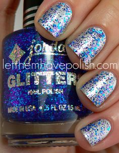 Milani Silver Stiletto and Jordana LA City Nights. I am going to have to try this when I get home tonight.