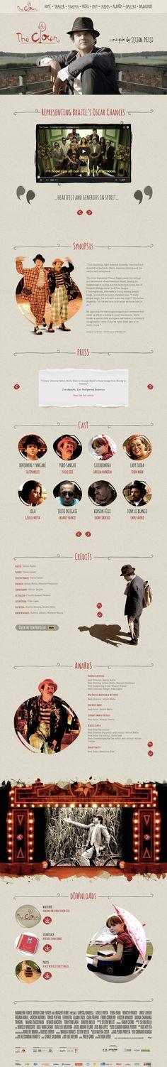 Unique Web Design, The Clown Film http://theclownfilm.com/ by https://www.behance.net/brunomagalhaes #Web #Design