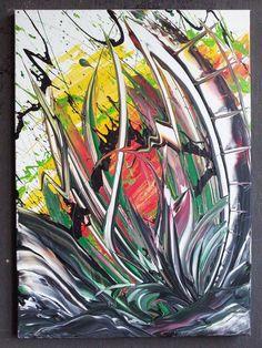 Acrylmalerei - Unikat! Abstraktes Bild 50 x 70 cm - handgemalt -  - ein Designerstück von GonzoVArt bei DaWanda