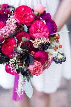 Garden roses, fall bouquets