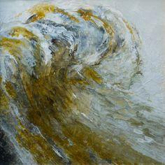"""Saatchi Online Artist Lia Melia; Painting, """"Tale of the Amber sea"""" #art"""