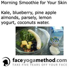 Morning Smoothie For Your Skin