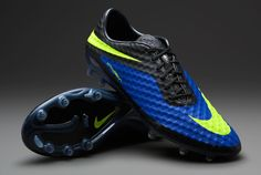 Nike Football Boots - Nike Hypervenom Phantom FG - Firm Ground - Soccer Cleats - Hyper Blue-Volt-Black