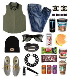 litle hungry by alema-husic on Polyvore featuring polyvore fashion style rag & bone Victoria's Secret J.Crew McQ by Alexander McQueen Topshop Maison Margiela River Island Ray-Ban Noir Cosmetics Candie's CO Art Smith clothing starbucks monster coke fanta