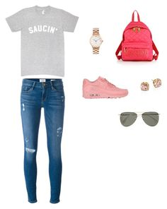 """""""Sin título #380"""" by lia-zenvela on Polyvore featuring moda, NIKE, Frame, Moschino, Marc by Marc Jacobs, Tory Burch y Le Specs"""