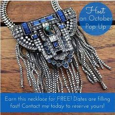 Ladies, if you book a Pop-up/Trunk show with me in October, you can win this amazing pendent for FREE!! This is starting to be one of the #1 pieces of Fall fashion! Let me know before my schedule fills up so I can get you in! Contact me and we can set a date!!   #ChloeAndIsabel #OctoberPieceForFree #ComeJoinMe #BookWithMe #AmaingPiece #LOVE https://www.chloeandisabel.com/boutique/jennifermoran#45100