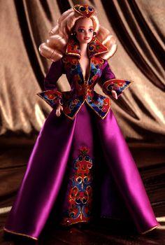 Royal Splendor Barbie Doll - Porcelain - 1993 Presidential Porcelain Barbie Collection - Barbie Collector