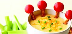 cute kid's fondue idea.  i would also use salsa or guac as well!