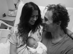 Pin for Later: Prepare to Fall in Love With Matthew McConaughey All Over Again  The father of three posted this sweet photo to his personal website after daughter Vida was born in January 2010.