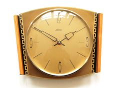 Mid Century ATLANTA KIENZLE Wall CLOCK Germany - Modernist 50s 60s - Wanduhr