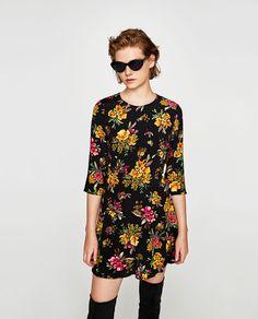 Image 2 of FLORAL PRINT MINI DRESS from Zara