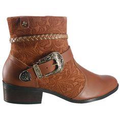 1de3f64e998 Bota Feminina Cravo e Canela 136821-1 - Avelã (Camurça Floral Vegetal) -  Calçados Online Sandálias