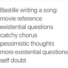 Pretty much. Which is why their music is awesome.
