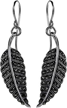 412d6dbdf Marcasite, Silver Earrings, Feather, Quill, Silver Drop Earrings, Feathers,  Fur