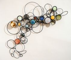 Contemporary Sculpture - Crescent (Original Art from Rickie Wolfe) Abstract Sculpture, Sculpture Art, Contemporary Sculpture, Wire Crafts, Wire Art, Diy Wall Art, Wall Sculptures, Textile Art, Metal Art