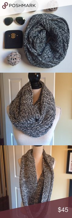 J.Crew knit Infinity scarf/snood Perfect for the Winter! Super warm and stylish for this season!  100% acrylic. New with tags and never worn. J. Crew Factory Accessories Scarves & Wraps