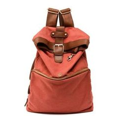 Wholesale women's fashion red canvas backpack handbag purse A22, Free shipping, $24.43/Piece | DHgate