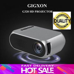Gigxon G320 1080p Full Hd Led Video Projector Home Theater Cinema Tv/usb/vga/pc Sku781346 4:3 1920x1080 Portable 800:1 Universal Remote Control