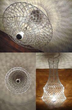 paper clip chandelier - upcycleDZINE