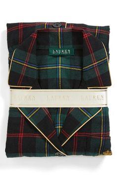 Ralph Lauren Pajama Set comes in four different colors tartan plaid