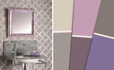 Nuancier de peinture pour une salle de bains argentée