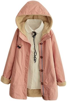 "humorkingfun: "" Warm Coats • Hooded Button Down Tweed Plain Coat • Double Breasted Hooded Floral Print Coat • Embroidery Zipper Hooded Long Padded Coat • Hooded Single Breasted Embroidery Coat • Lace..."