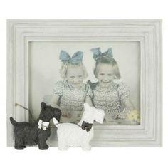 Bilderrahmen Fotorahmen Hunde Terrier schwarz & weiß 24 x...