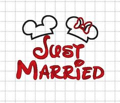 Minnie Mickey Mouse Just Married Disney by LauraBethDesignsLLC