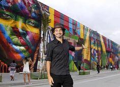 Mural incrível do artista Eduardo Kobra no RIO 2016