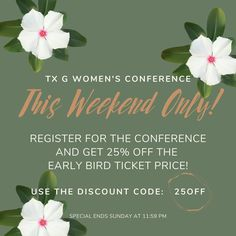 Sign up for our September Conference - 25% off this weekend only! Please join @truthandgracewomen for a special event with inspirational speakers, lunch, worship, prayer, and shopping! 🛍 (speaking- @brittanyrust @jenniferedewaard and me) We can't wait to see you for this time of digging deeper into Truth & growing in Grace! #denverevents #truthandgracewomen