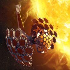 Solar Harvester and Communication Node Sci Fi Fantasy, Dark Fantasy, Ulysse 31, Sci Fi City, Sci Fi Environment, Sci Fi Comics, Spaceship Concept, Futuristic Art, Science Fiction Art