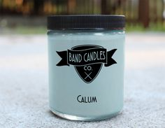 What do you think Calum smells like?:  We think he smells like a cool glass of minty lemonade on a warm summers day.  Candle size:  8 oz.   100% Soy Wax   Burn Time: Approximately 65 hours  Made to order: Please allow 3-5 days for production.  U.S. shipping usually takes an additional 2-5...