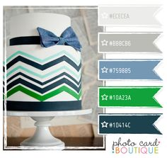 color palette blue kelly green gray