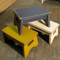 Primitive Child's Stool Stool -10 Color Choices - FREE SHIPPING on Etsy, $31.99
