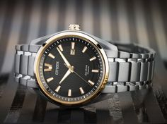 Talk about a smart look for your guy. Citizen watches are built with style that lasts! Citizen Watches, Citizen Eco, New Man, Watches For Men, Meet, Jewellery, Cool Stuff, Women, Fashion