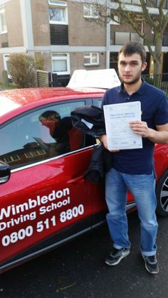 Well done to Daniel from #Streatham who passed his test in #Mitcham.