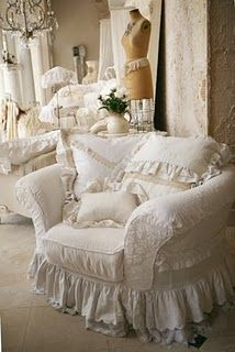 Love these chairs so shabby chic