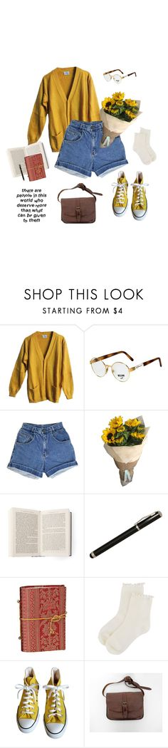 """i need something, tell me something new"" by jaxdm ❤ liked on Polyvore featuring Persol, Laurex, Forever 21 and Converse"