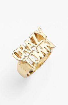 kate spade new york 'say yes - crazy town' ring | Nordstrom//