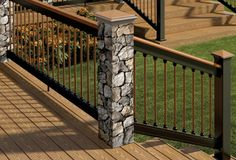Deckorators railing with postcovers, balusters and post caps