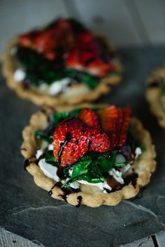 Strawberry & Goat Cheese Tart
