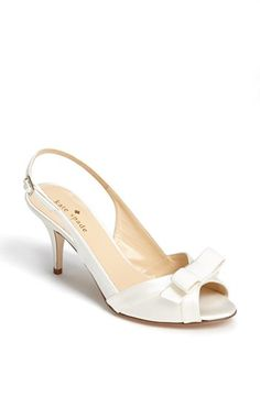 1dcf4d31fed06 kate spade new york  silver  slingback sandal Kitten Heel Wedding Shoes