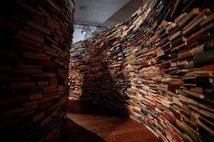Step Inside a Book Labyrinth Shaped Like Borges' Fingerprint | The Creators Project