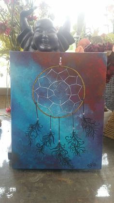 Dream Big, dream catcher, painting, art, boho, bohemian  https://www.etsy.com/listing/233877823/dream-big-8x10-abstract-acrylic-energy