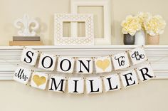 Soon To Be Mrs Banner, Bridal Shower Decorations, Bridal Shower Banner, Soon To Be Mrs, Bachelorette Party, Bridal Shower Gold Glitter, B206 by ABannerAffair on Etsy https://www.etsy.com/listing/259758066/soon-to-be-mrs-banner-bridal-shower