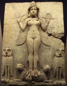 Lilith - Première femme, selon la glose juive, elle refuse à dieu l'homme qu'il lui propose. A la suite, bannie et démonisée, contrairement à Eve qui se soumet.