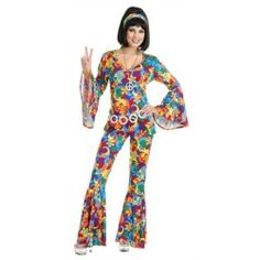 60s 70s Hippie Bell Bottom Outfit Halloween Costume
