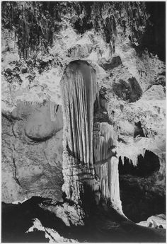 Formations Above Green Lake, Carlsbad Caverns National Park, New Mexico by Ansel Adams